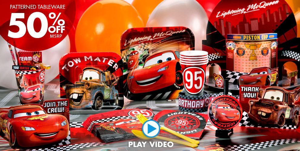 Cars Party Supplies #1