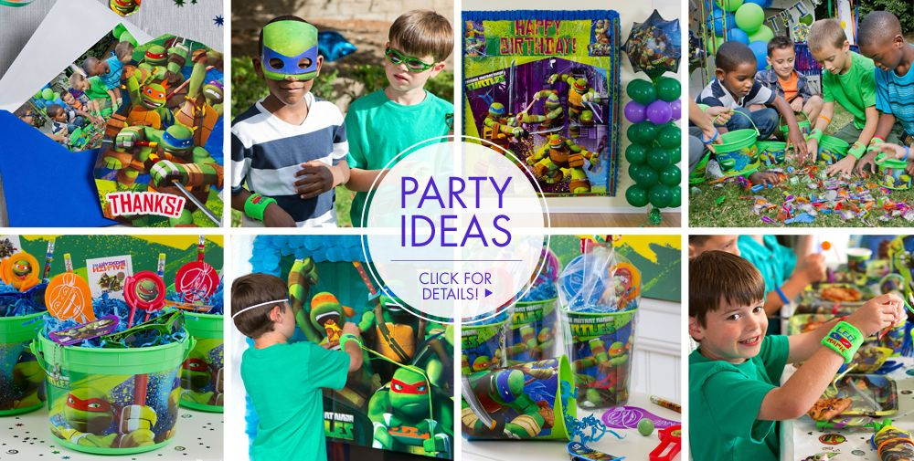 Teenage Mutant Ninja Turtles Party Supplies Turtle Birthday Ideas City