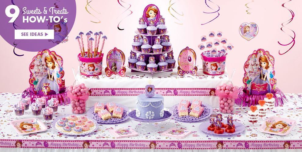 Sophia The First Party Supplies – Sweets & Treats