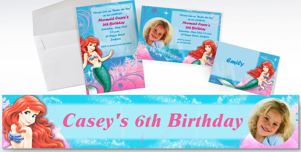 Little Mermaid Custom Invitations & Thank You Notes