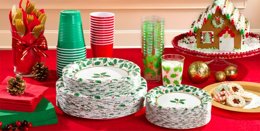 Seasonal Holly Party Supplies