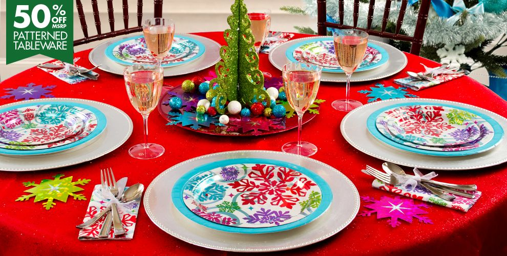 Bright Holiday Party Supplies #1