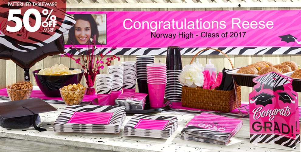 Zebra graduation party supplies party city