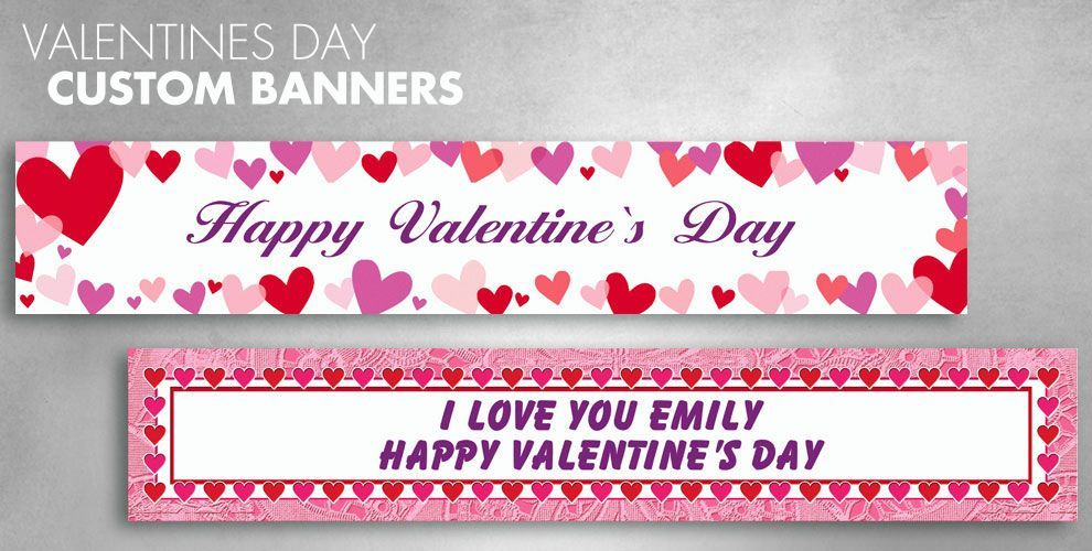 Valentine's Day Custom Banners