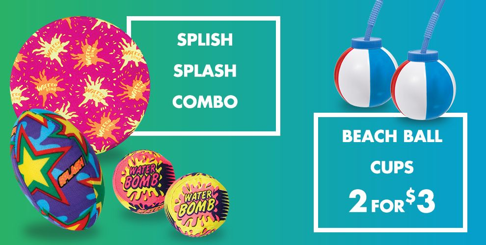 Splish Splash Combo Beach Ball Cups 2 for $3