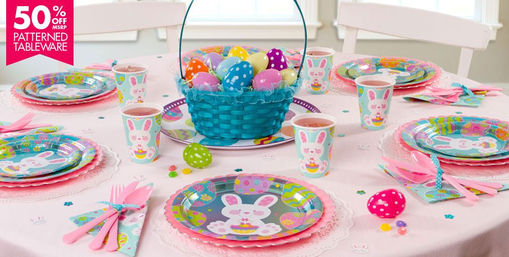 Enchanted Easter Party Supplies 50% off Patterned Tableware MSRP