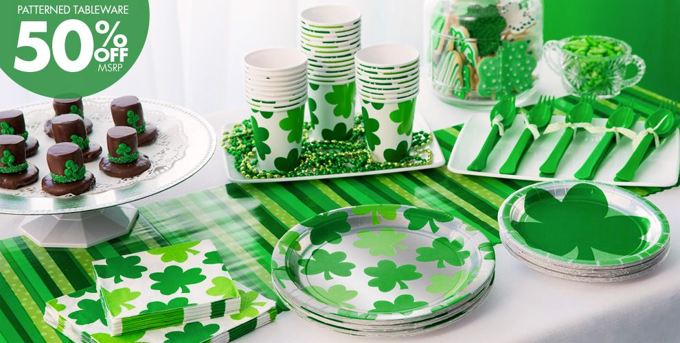 Shamrock Shimmer Party Supplies