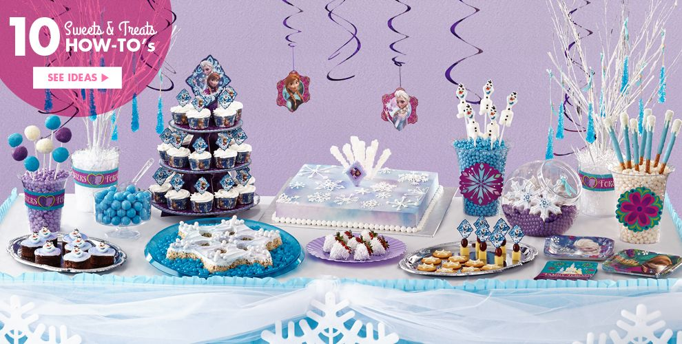 Frozen Party Supplies Birthday Ideas