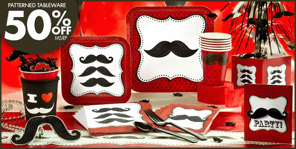 Moustache Party Supplies