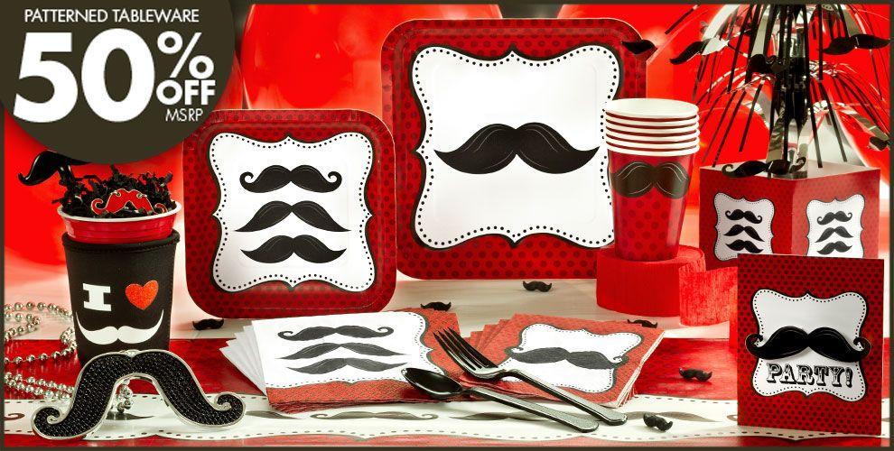Moustache Party Supplies