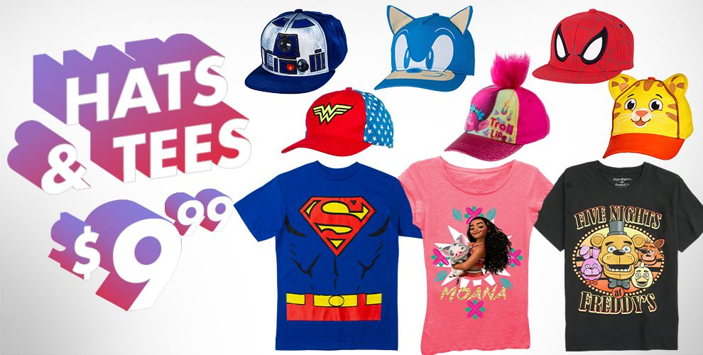 Hats & Tees Gifts Under $10