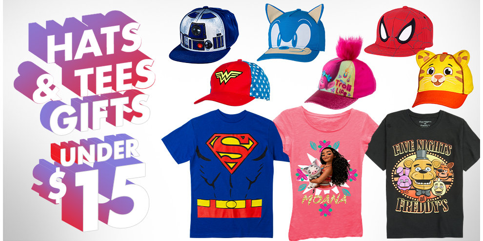 Hats & Tees Gifts Under $15