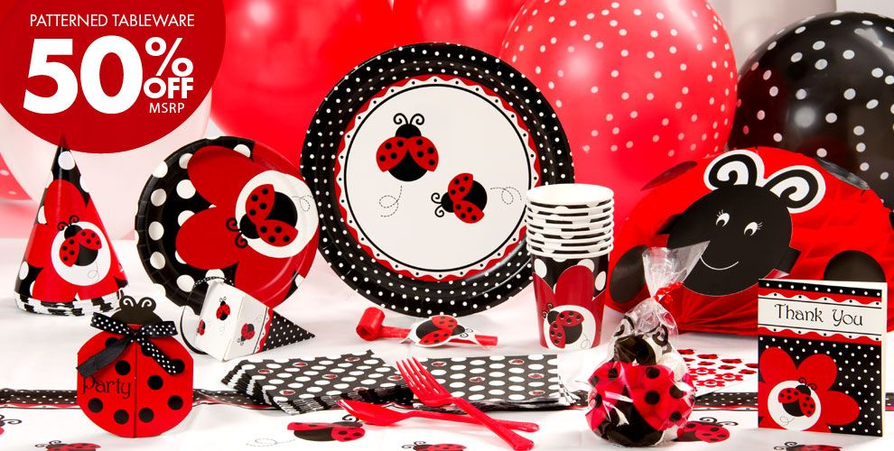 Fancy Ladybug Party Supplies Birthday