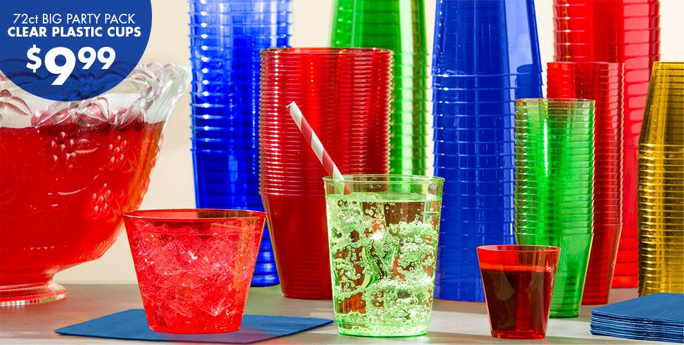 Graduation Drinkware – 72 Count Big Party Bag Clear Plastic Cups $9.99