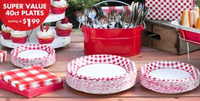 Exceptional Red Gingham Value Plates U0026 Tableware. «»