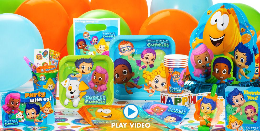 Bubble Guppies Party Supplies Girls Themes