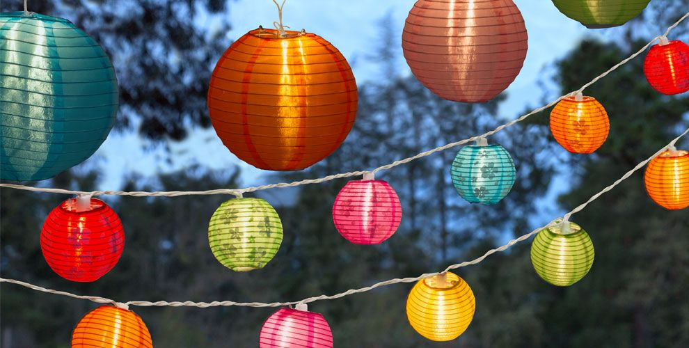 Can Outdoor String Lights Get Wet : Luau Patio Lights - Outdoor String Lights - Party City
