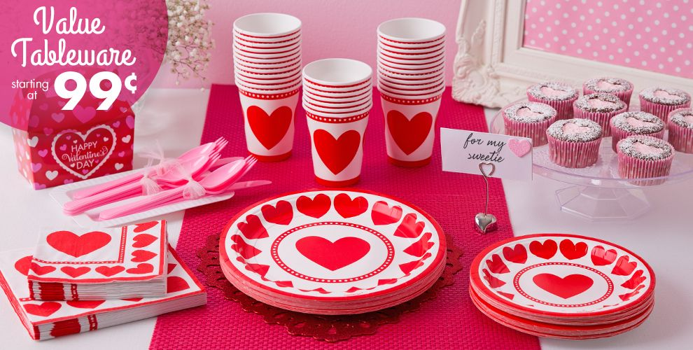 Sweet Love Party Supplies Value Tableware Starting at 99¢