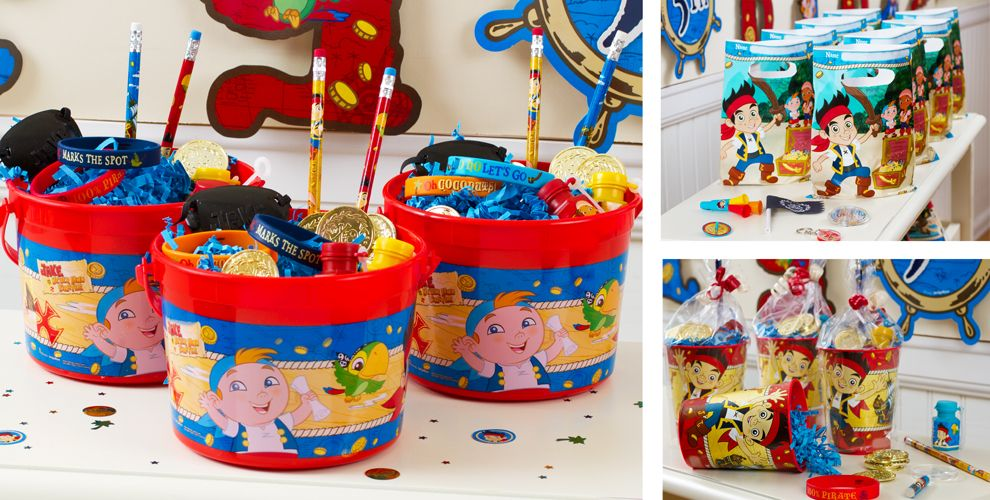 Jake and the Neverland Pirates Party Favors