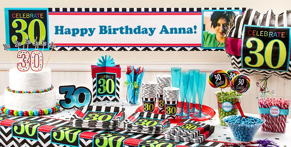 Celebrate 30th birthday party supplies 30th birthday for 30th party decoration ideas