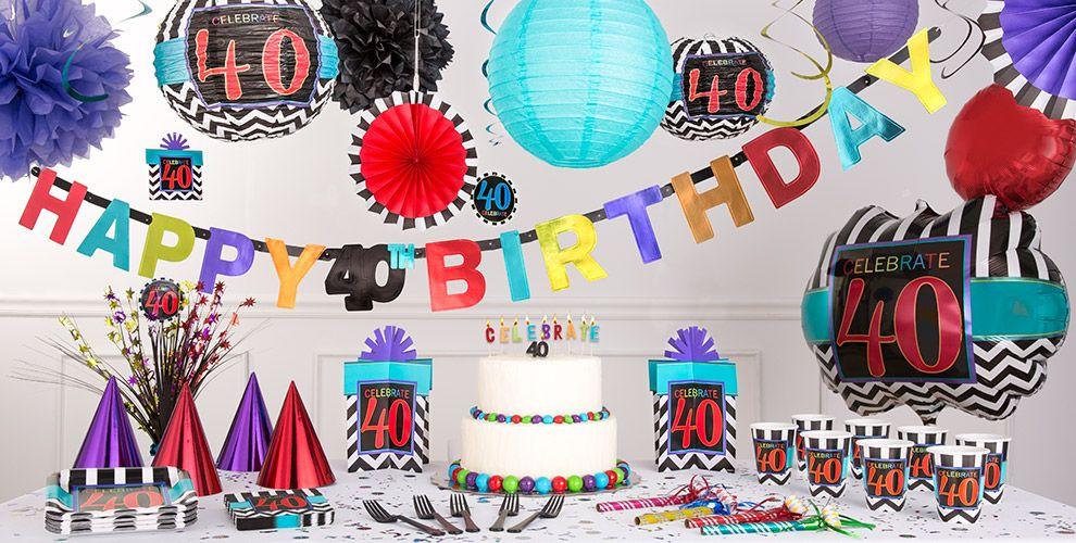 Chevron Celebrate 40th Birthday Party Supplies