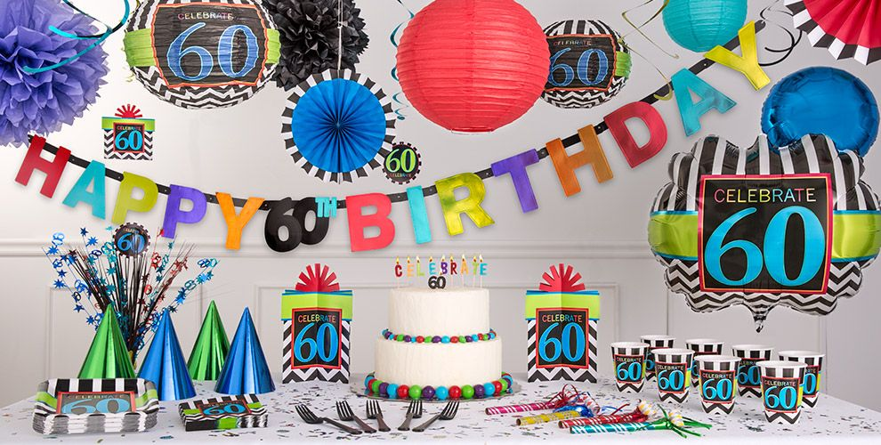 Celebrate 60th birthday party supplies 60th birthday for 60 birthday decoration party