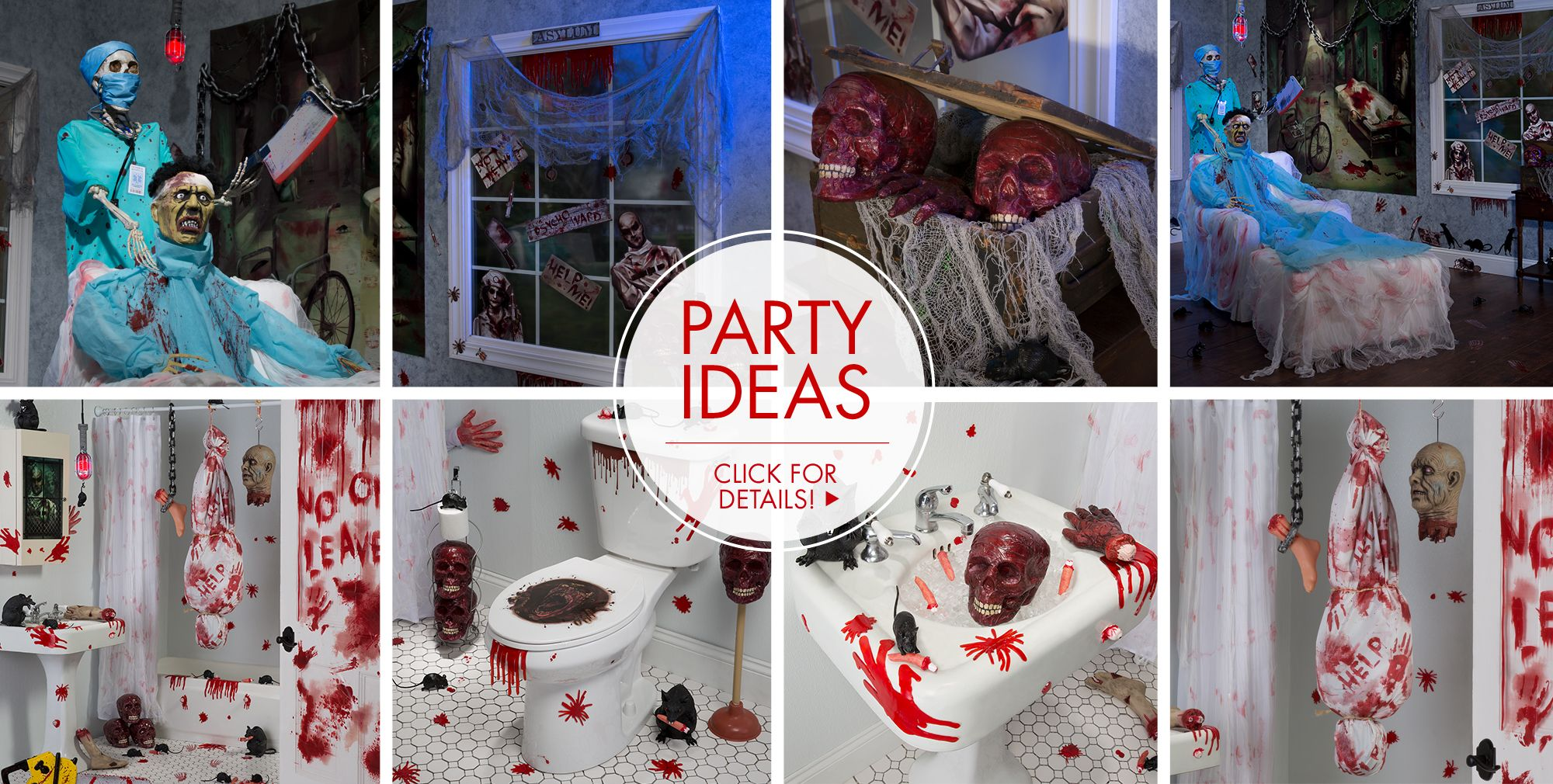 asylum halloween decorations party ideas - Halloween Decorations For A Party