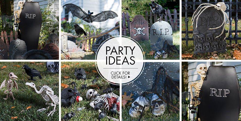 Halloween Tombstones & Cemetery – Party Ideas
