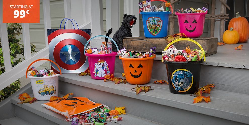 Halloween Trick or Treat Bags & Buckets