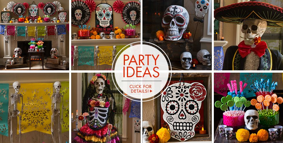 day of the dead decorations party ideas