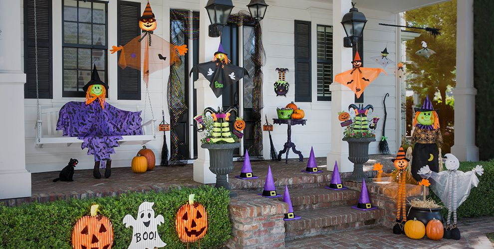 friendly kid halloween decorations outdoor cute halloween cutouts kid balloons garlands decorations friendly