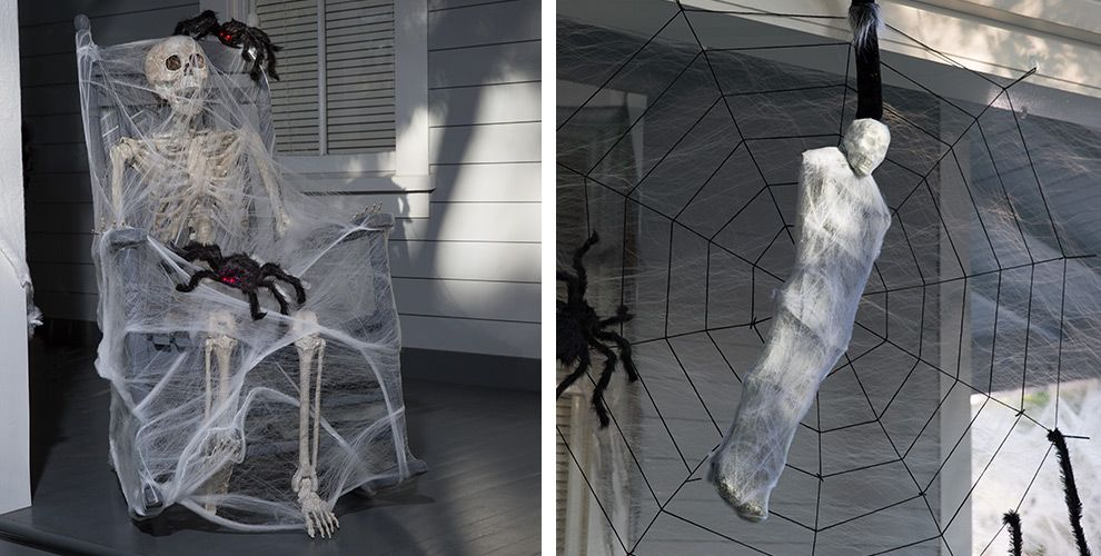 giant spiders spider webs halloween decorations - Halloween Spider Web Decorations