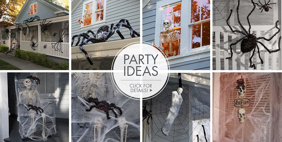halloween decorations giant spiders spider webs party ideas - Halloween Rental Decorations