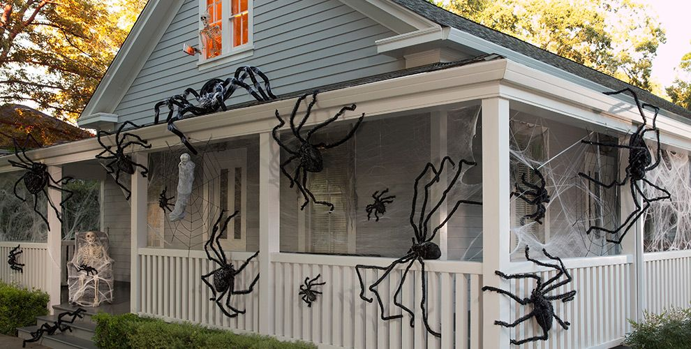 giant spiders spider webs halloween decorations - Halloween Spiders