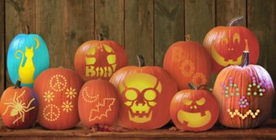 Pumpkin carving kits tools stencils