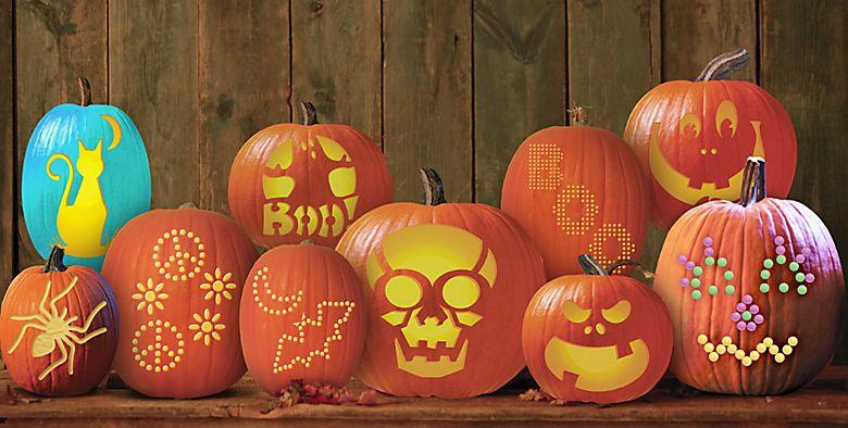 Pumpkin carving kits tools stencils