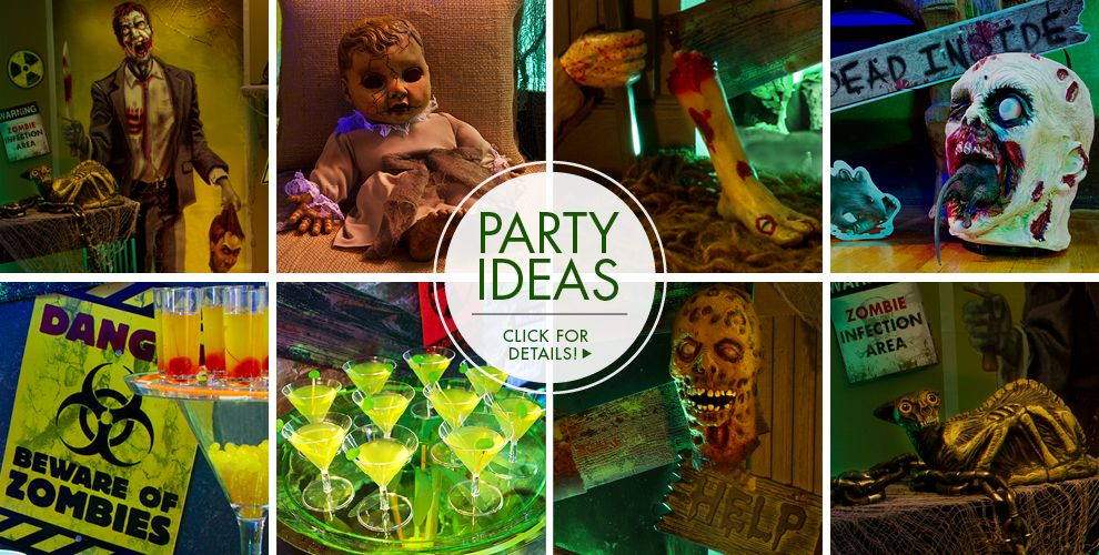 zombie halloween decorations party ideas - Halloween Party Supplies