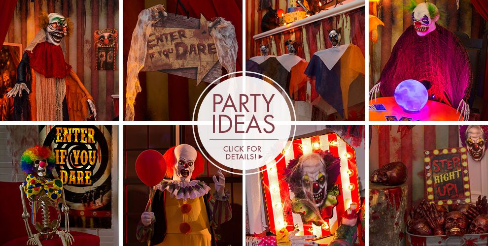 Creepy Carnival Decorations Clown Props Party City