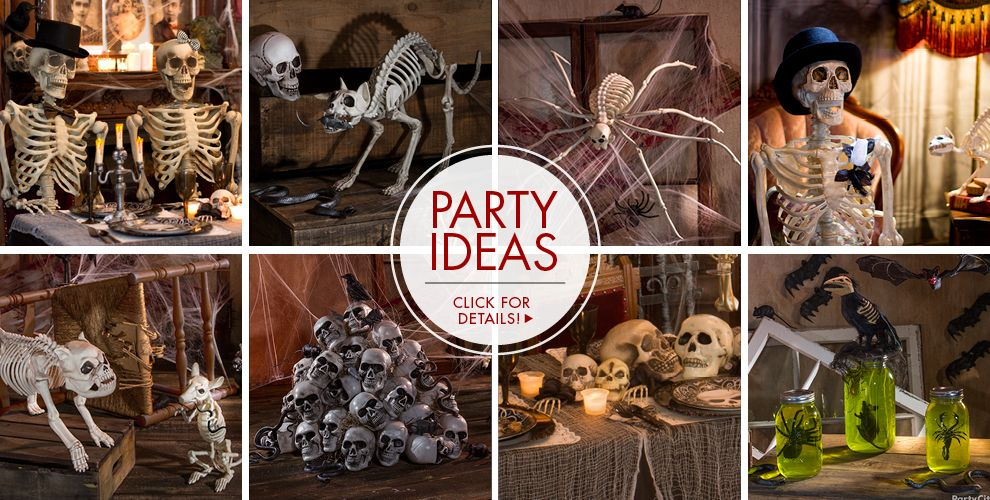 skeletons skulls halloween decorations