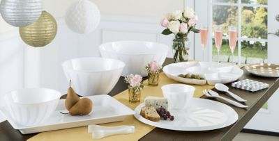 White Serving Trays Bowls \u0026 Utensils & Serving Trays \u0026 Serving Platters - Plastic Serving Bowls | Party City
