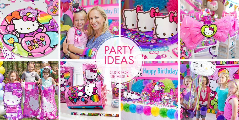 Rainbow Hello Kitty Party Supplies #3