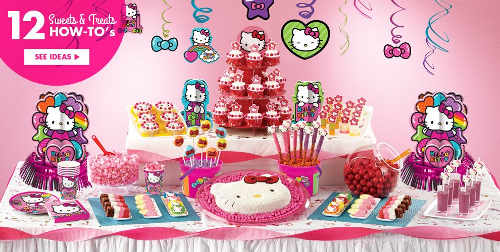 Rainbow Hello Kitty Party Supplies #4