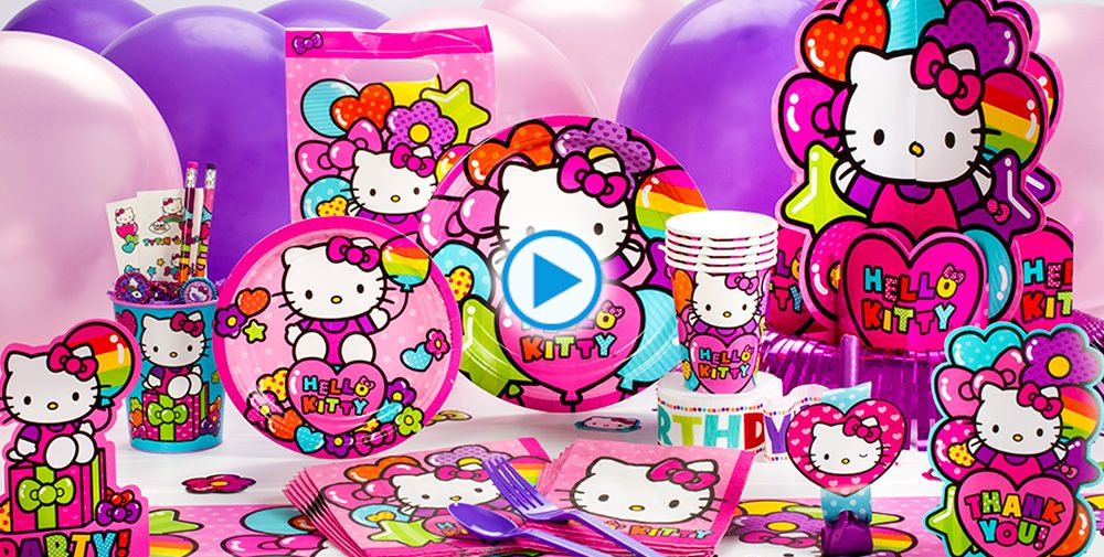 Rainbow Hello Kitty Party Supplies #1