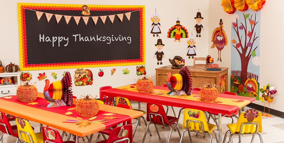 Classroom Decoration Ideas For Thanksgiving ~ Thanksgiving classroom party supplies city