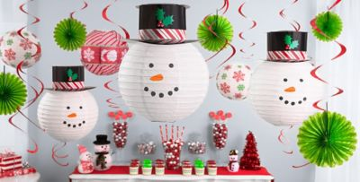 Awesome Christmas Theme Party Ideas Part - 4: Hanging Christmas Decorations