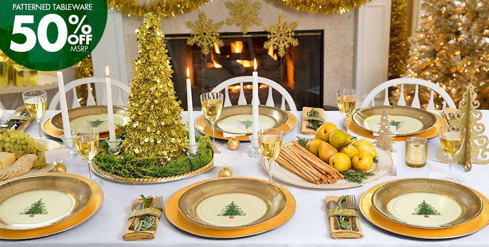 Gold Christmas Theme Party - Gold Christmas Decorations ...