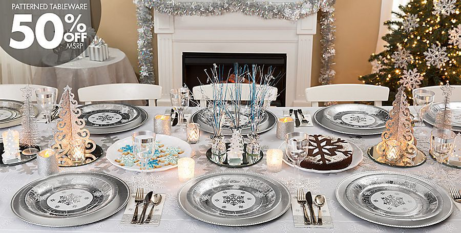 Silver Winter Wonderland Theme Party #4