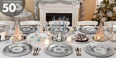 Attractive Winter Wonderland Table Settings Part - 3: ... Silver Winter Wonderland; Silver Winter Wonderland Party ...