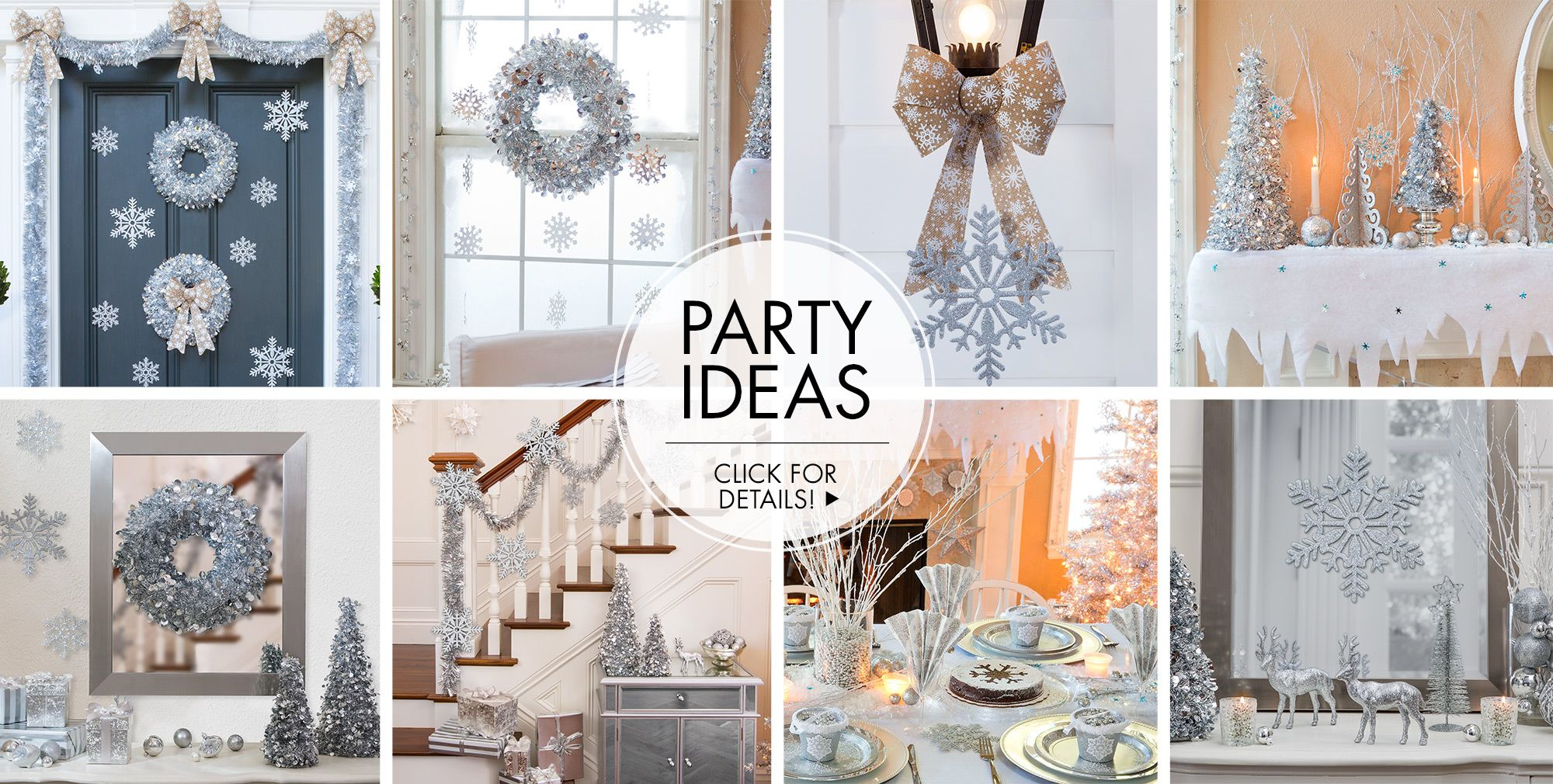 Silver Winter Wonderland Theme Party – Party Ideas