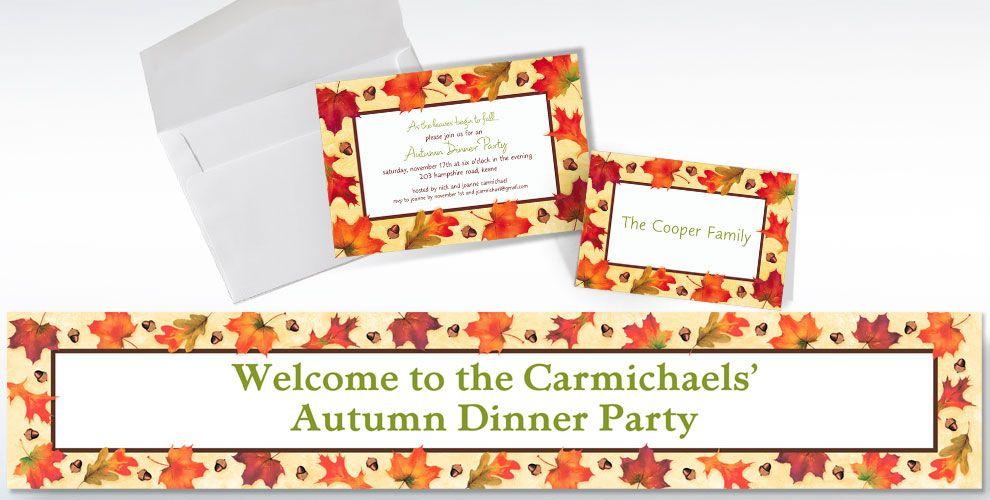 Fall Custom Invitations & Thank You Notes